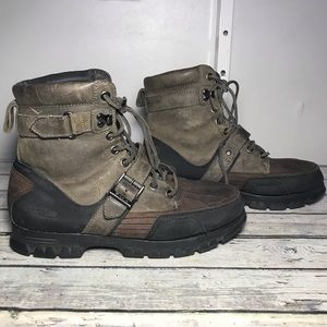 Polo Ralph Lauren Leather Duck Boots Size 11